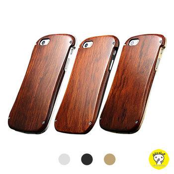 【Dido shop】iPhone 6 / 6S 木質殼+金屬保護框 手機保護殼 手機殼 手機框 (YD005-1)