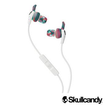 美國Skullcandy骷髏糖 XTP 運動型入耳式耳機-白+彩虹色(公司貨)