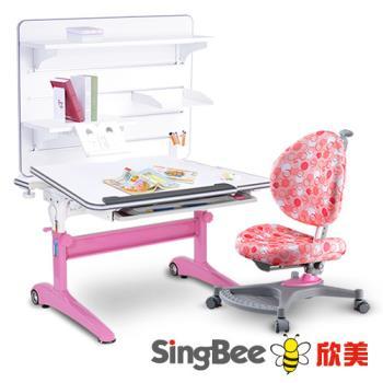【SingBee欣美】酷炫L桌+136椅+皇家掛板書架