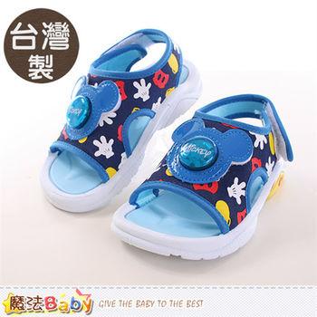 魔法Baby 童鞋 台灣製迪士尼米奇正版閃燈涼鞋~sh9811