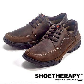 SAPATOTERAPIA 巴西舒適綁帶有機休閒鞋-深咖