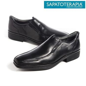 SAPATOTERAPIA 巴西有機素面直套皮鞋-黑