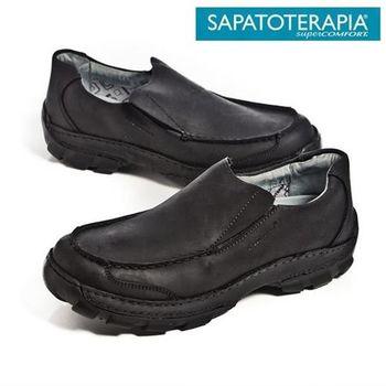 SAPATOTERAPIA 巴西舒適寬板直套有機休閒鞋-黑
