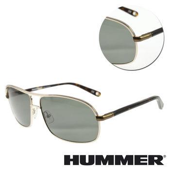 【HUMMER】雙樑全框綠色琥珀太陽眼鏡(02-H2-2004-C1)