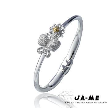 【JA-ME】990千足銀手鐲(花蝶)
