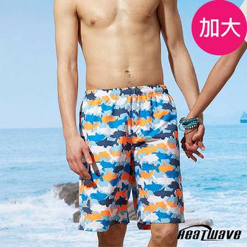 Heatwave熱浪 加大男海灘褲 海洋鯊-A200