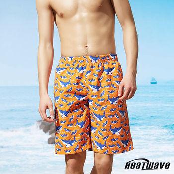Heatwave熱浪 男海灘褲 橘陽鯊-A201