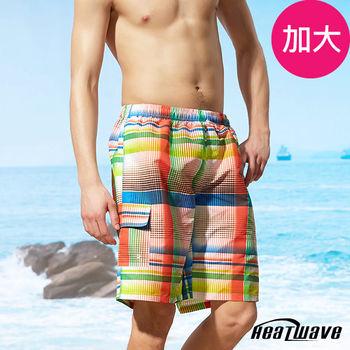 Heatwave熱浪 加大男海灘褲 格彩紋-A203