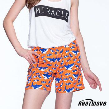 Heatwave熱浪 女海灘褲 橘陽鯊-C58