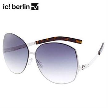 【ic!berlin 太陽眼鏡】Lundi 墨鏡-明星熱愛款-銀框-灰鏡面(Lundi:chrome)