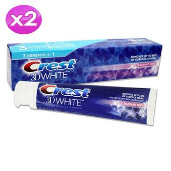 【美國 CREST 】3D WHITE奢華亮白牙膏(6.4oz/181g) 2入組
