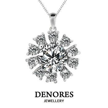 DENORES 『綻陽』GIA 0.30克拉D/VS2八心八箭鑽石項鍊