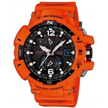 CASIO 卡西歐 G-SHOCK 太陽能6局電波飛行錶-橘X黑 (GW-A1100R-4A)