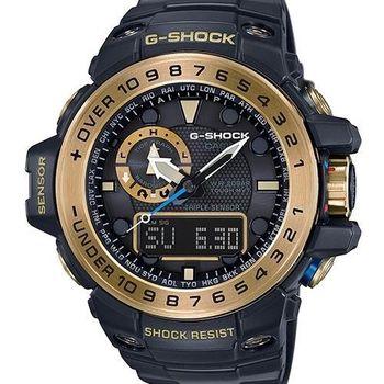 CASIO 卡西歐 G-SHOCK 絕地悍將-黑x金 (GWN-1000GB-1A)