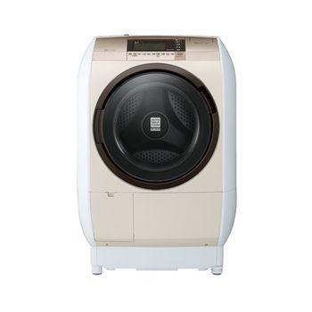 雙重送【HITACHI日立】12.5KG日製左開溫風尼加拉飛瀑滾筒式洗脫烘洗衣機SFBD5200W(金)