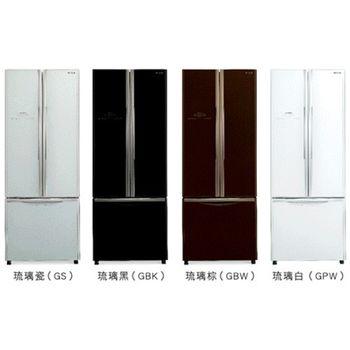 好禮送【HITACHI日立】421L變頻三門對開冰箱RG430(白)