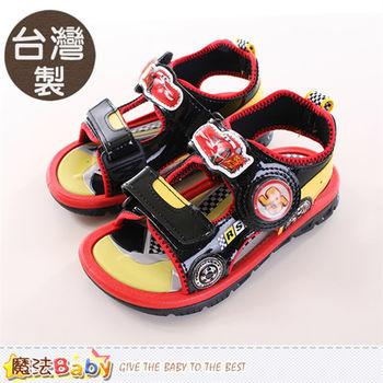 魔法Baby 男童涼鞋 台灣製迪士尼閃電麥坤正版運動涼鞋~sh9817