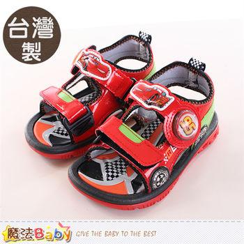 魔法Baby 男童涼鞋 台灣製迪士尼閃電麥坤正版運動涼鞋~sh9816