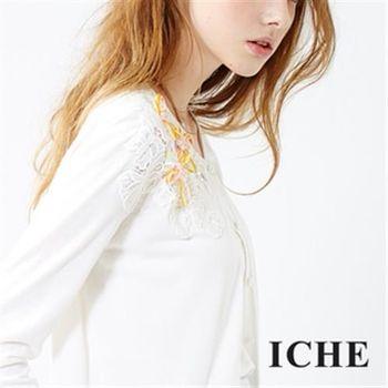 【ICHE 衣哲】立體花邊針織外套