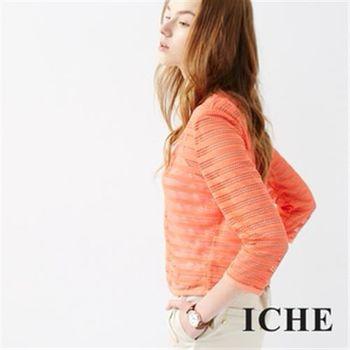 【ICHE 衣哲】鏤空鉚釘針織外套