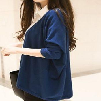 [協賀]韓版寬鬆顯瘦針織衫