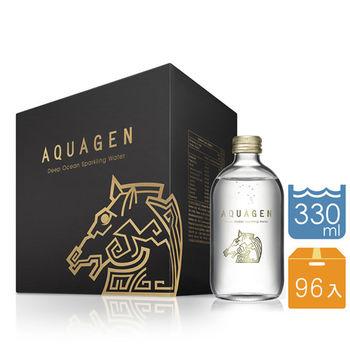 AQUAGEN海洋深層氣泡水-金馬獎經典紀念版4箱(共96瓶x330mL)