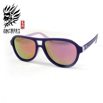 【日本鬼洗】ONIARAI日本鬼洗反光鏡片墨鏡 ONS003 C2 紫色