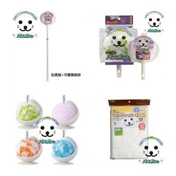 日本山崎小海豹 第二代浴室風呂刷+風呂刷替換頭+清潔球+厚手抹布5入 特惠組
