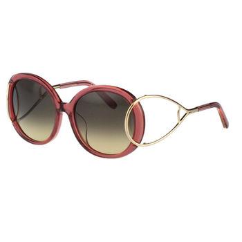 CHLOE太陽眼鏡 圓框 廣告款(果凍紅色)