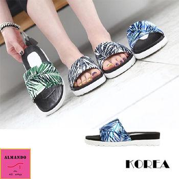ALMANDO-SHOES ★正韓夏竹風涼鞋/拖鞋★韓國空運 女性室內外拖鞋 休閒鞋