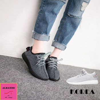 ALMANDO-SHOES ★正韓透氣輕盈休閒運動鞋★韓國空運 女性運動鞋 休閒鞋