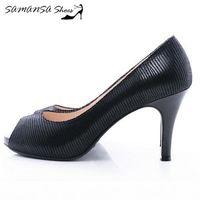 莎曼莎 鞋~MIT全真皮~天使情人 ^#45 優雅蜥蜴紋魚口防水台高跟鞋 ^#93 ^#4