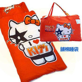 【凱蒂貓HELLO KITTY】我愛KT舖棉兒童睡袋-I ♥ KISS篇(4*5尺)