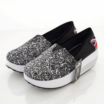 《DOOK》閃亮銀蔥美型健走鞋/搖搖鞋-銀色