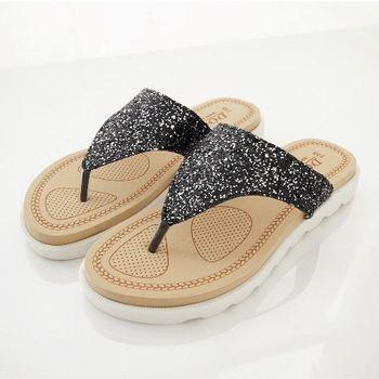《DOOK》璀璨星空夾腳拖鞋-銀色亮粉