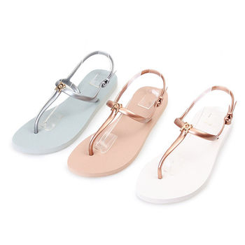 TTSNAP涼鞋-MIT可愛熊夾腳平底防水鞋-3色