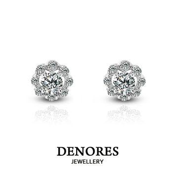 DENORES 『迷漾』0.30ct D/VS2 鑽石耳環(針式)