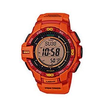 CASIO 卡西歐 PROTREK 太陽能登山錶-橘(PRG-270-4A)