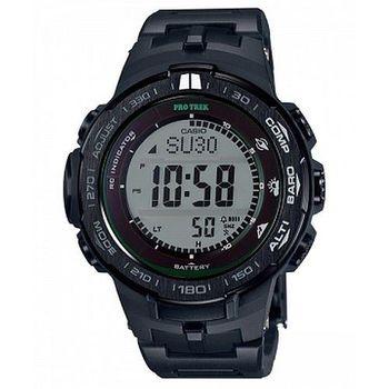 CASIO 卡西歐PROTREK 太陽能電波登山錶-黑 (PRW-3100FC-1)