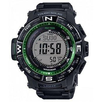 CASIO 卡西歐PROTREK 太陽能電波外框羅盤方位顯示登山錶-黑 (PRW-3510FC-1)