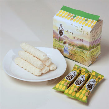 【米香抱抱米捲】原味純米捲-100%純米-6M以上幼兒可食-16支/包