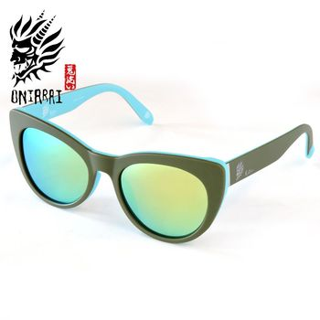 【日本鬼洗】ONIARAI日本鬼洗反光鏡片墨鏡 ONS004 C2 墨綠色