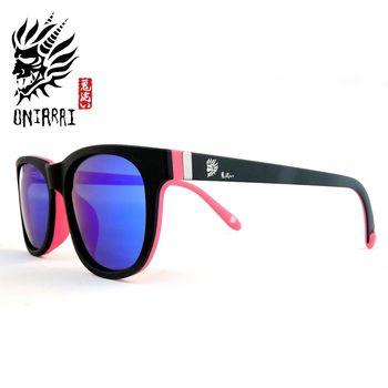 【日本鬼洗】ONIARAI日本鬼洗反光鏡片墨鏡 ONS006 C3 粉紅色