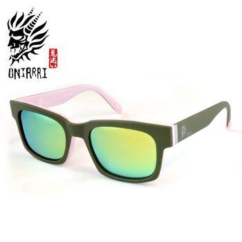 【日本鬼洗】ONIARAI日本鬼洗反光鏡片墨鏡 ONS005 C2 淺粉