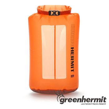 GREEN HERMIT 超輕透視窗防水袋 - 10L 珊瑚玫瑰橘 OD1010