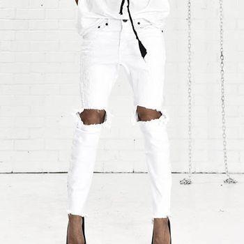 OneTeaspoon LUXE WHT KIDDS 牛仔褲- KIDDS   好萊塢破褲單寧時尚 OTS - 女 (白)