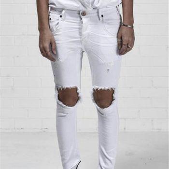 OneTeaspoon LUXE WHT DESPERADOS 牛仔褲- DESPERADOS   好萊塢破褲單寧時尚 OTS - 女 (白)