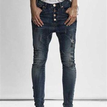 OneTeaspoon BLUE MARINE KIDDS 牛仔褲 OTS 好萊塢破褲單寧時尚 - 女 (深軍藍)