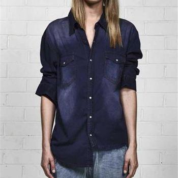 OneTeaspoon SALTED INDIGO LIBERTY SHIRT 牛仔襯衫 OTS 好萊塢破褲單寧時尚 - 女 (紫藍)