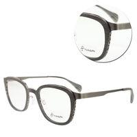 ~THIARI~圓形合金板材木紋光學眼鏡 ^#40 M5060 ^#45 SC4 鐵灰色
